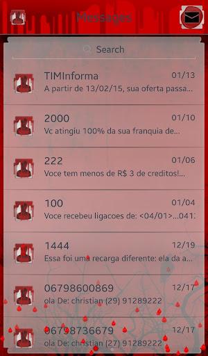 Blood GO SMS Pro Theme