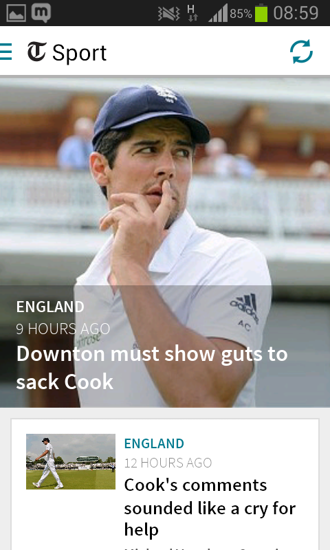 The Telegraph for Android - screenshot
