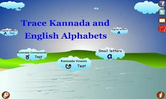 Screenshot of Trace Kannada Alphabets Kids