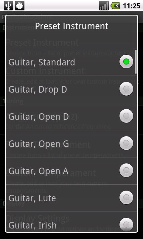 PitchLab Guitar Tuner (LITE)- screenshot