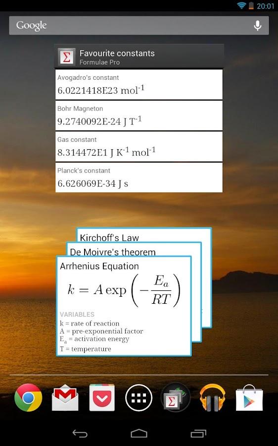 Formulae Pro - screenshot