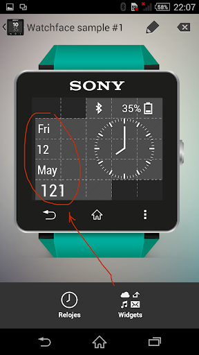 Date Widgets for SmartWatch 2