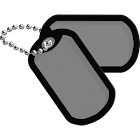 U.S. Military Dog tag  Widget icon