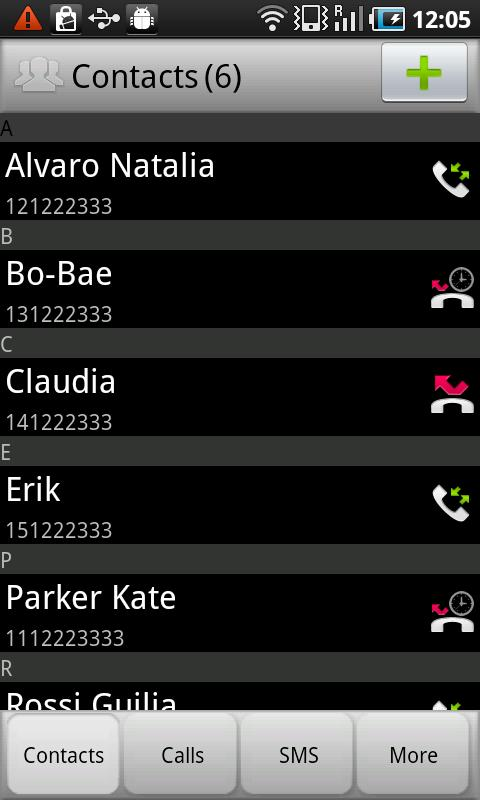 Private contacts, calls & SMS - screenshot