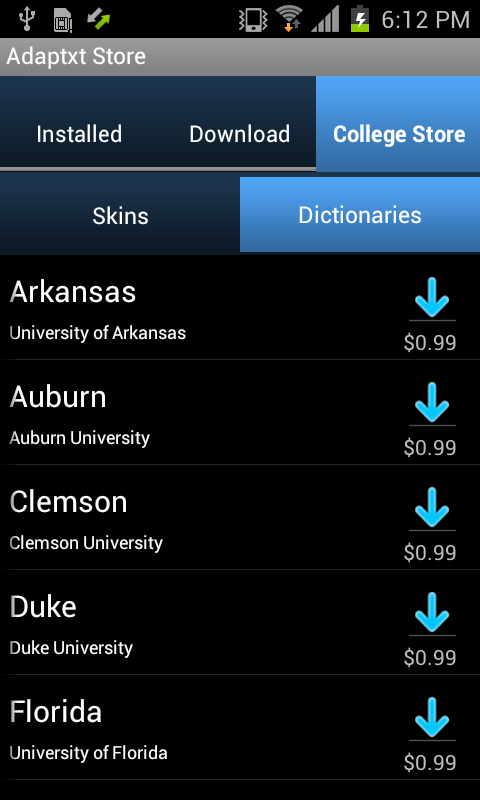 Clemson Keyboard- screenshot