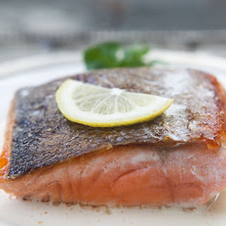 Salmon with Lemon Cream Sauce.