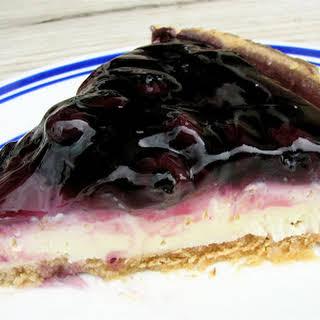 No Bake Fluffy Blueberry Cheesecake.