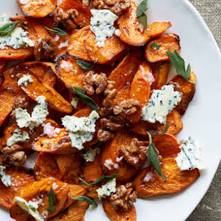 Sweet Potatoes with Stilton and Walnuts.