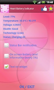 Heart Battery Indicator - screenshot thumbnail