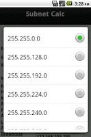 Screenshot of Subnet Calc