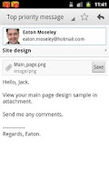 Screenshot of EmailTray Email App