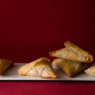 Potato Samosa Phyllo Triangles.