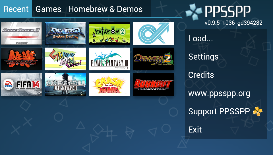 PPSSPP - PSP emulator - screenshot