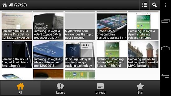 Samsung Galaxy S4 News - screenshot thumbnail