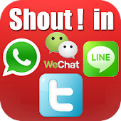 Shout - Whatsapp add text free