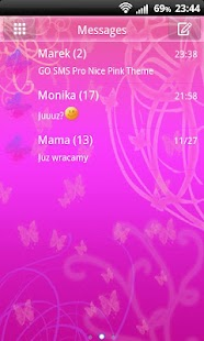 Nice Pink Theme for GO SMS Pro- screenshot thumbnail