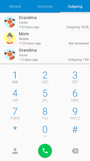 ExDialer Theme - Lollipop Blue