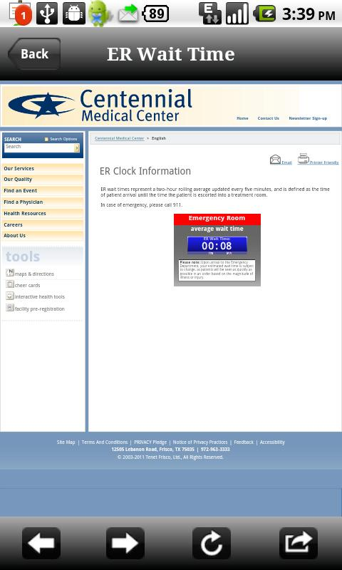 Centennial Medical Center - screenshot