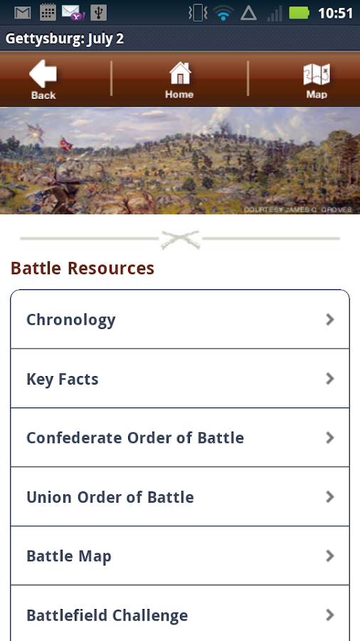Gettysburg Battle App: July 2- screenshot