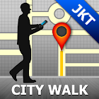 Jakarta Map and Walks icon