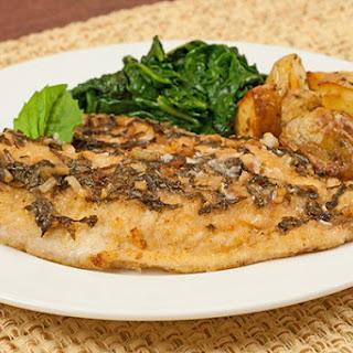 Oven-Fried Tilapia with Basil-Lemon Butter.