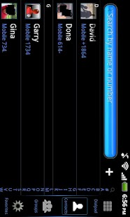 Black Mexdroid Go Contacts EX - screenshot thumbnail