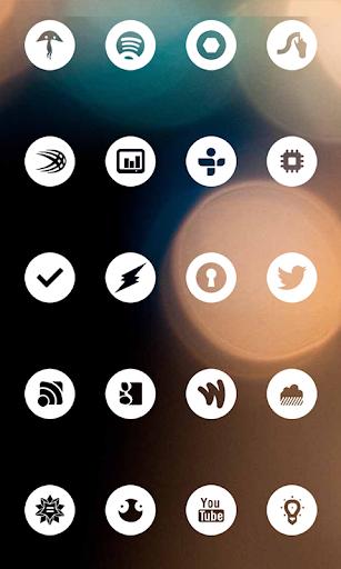 玩免費個人化APP|下載White Round Theme Go/Nova/Apex app不用錢|硬是要APP