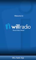 Screenshot of WILL Radio App