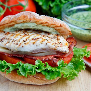 Grilled Chicken and Club Sandwich.