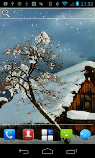 Falling Flowers Snow LWP - screenshot thumbnail