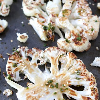 Cauliflower Steaks with Ginger-Soy Sauce.