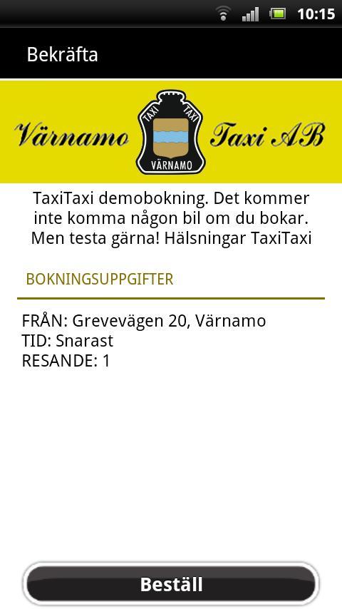 Värnamo Taxi- screenshot