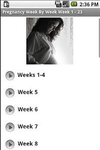 Pregnancy -  Week By Week 1-23 - screenshot thumbnail