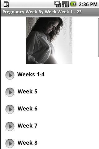 Pregnancy -  Week By Week 1-23 - screenshot