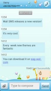 Wali SMS Theme: Giraffe's Birt - screenshot thumbnail