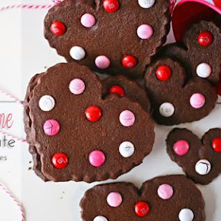 Valentine Chocolate Sugar Cookies.