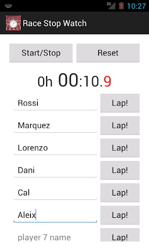 Race Stopwatch