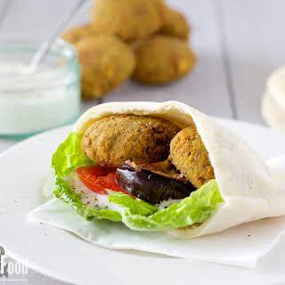 Falafel Pita Sandwich.