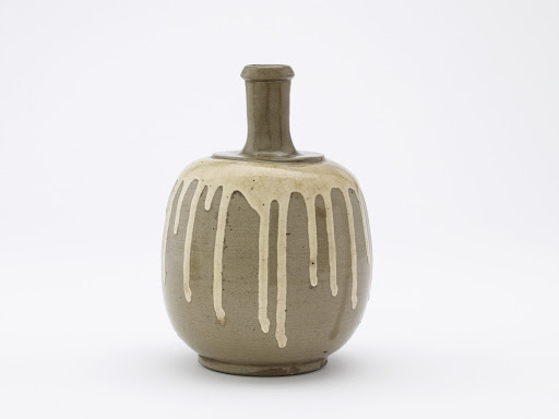 Commercial bottle for medicinal wine, Tamba ware