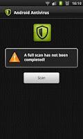 Screenshot of Antivirus for Android.
