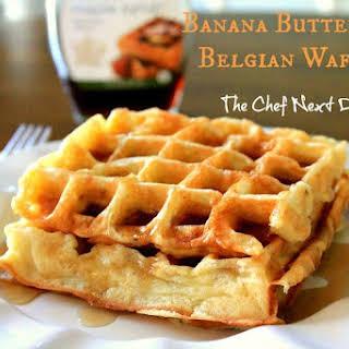 Banana Buttermilk Belgian Waffles.