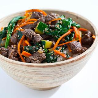 Korean Beef Rice Bowl.