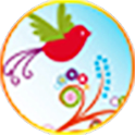 Lovely birds apex  Go Launcher logo