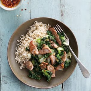 Stir-Fried Pork and Bok Choy