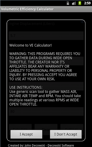 Volumetric Efficiency Calc
