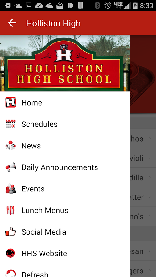 Holliston High School- screenshot