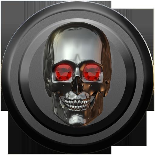 Poweramp skin skull titan