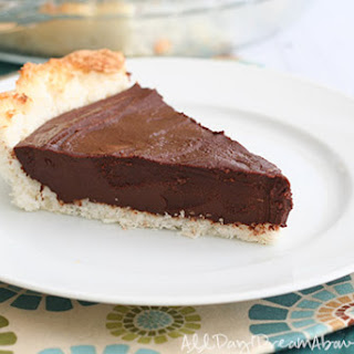 Chocolate Ganache Tart with Macaroon Crust