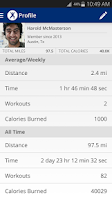 Screenshot of Map My Fitness Workout Trainer