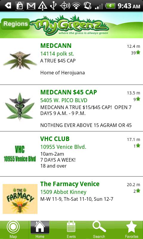 Marijuana - MyGreenz Locator - screenshot